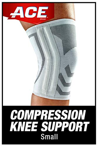ACE - AC-SO-13JU-016497 -SO-13JU-016497 Compression Knee Brace with Side Stabilizer, Helps support weak, injured, arthritic or sore knee,Small- Gray Grey