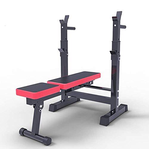 BATOWE Workout Bench Hantel Bench Adjustable Training Hantelbank Faltbare Trainingsbank Home Gym Trainingshalle Mehrzweck Utility-Bank mit Hantelablage (Color : BlackFoldable)