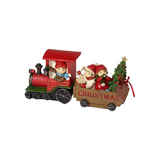 Villeroy & Boch Winter Bakery Tren de Navidad con niños, de juguete para niños, plástico, varios colores, 29 x 8 x 13,5 cm