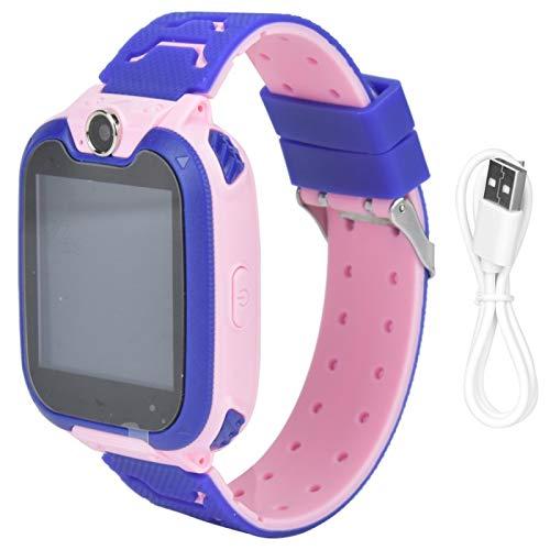 Pwshymi Kinder positionieren Smartwatch Multifunktions-Kinder Telefonuhr für Kinder Kinderspielzeug Geschenk Reduzieren Sie Druckstress(Pink)