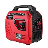 PowerSmart Powered Portable Inverter Generator, 1900W Rated & 2500W Peak Watts Super Quiet Generator, Fuel Shut Off, Gas Generator for Outdoors Camping Travel Hunting Emergency, CARB Compliant Red/Black, PS5020