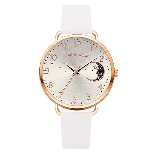 Yookstar Adventskalender 2020 Uhren Damen Einfache Stil Armbanduhr Quarzuhr Bambusknoten Lederarmband Uhr Arabische Ziffern Analoge Uhr Quarzuhr Kleideruhr für Frauen Mädchen