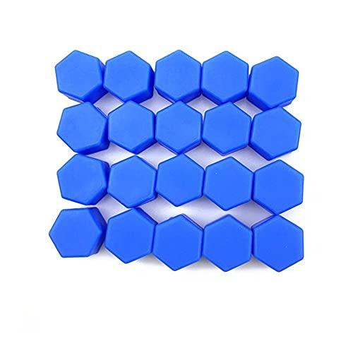 LinYom Accesorios para automóviles Tornillos de Rueda Cubierta/Ajuste para - H-ON-D-A/CRV Accord Odeysey Crosstour Jazz City Civic Jade Crider Smirior S660 (Color Name : 17mm Blue)