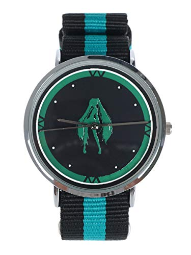 CoolChange Vocaloid Armbanduhr mit Stoffarmband, Motiv: Miku Hatsune, Türkis