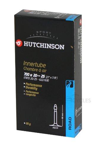 HUTCHINSON Cv657571 Cámara 700x20-25 Presta válvula 80 mm, Unisex Adulto, Negro, 27.5 x 1.70 a 2.35