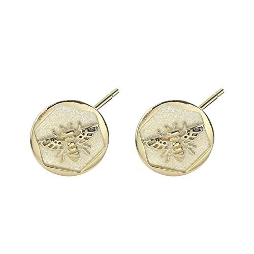 1 pieza de pendientes para mujer con incrustaciones de moneda minimalista