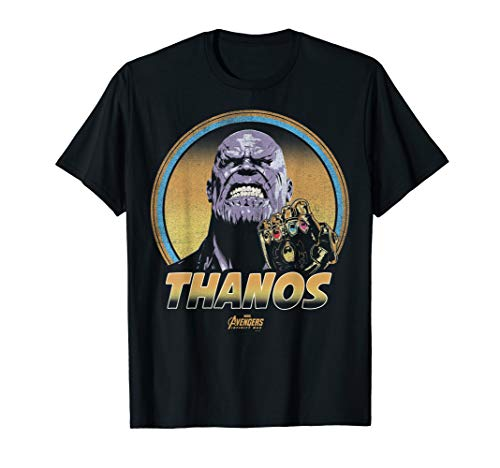 Marvel Infinity War Thanos Vintage Portrait Graphic T-Shirt