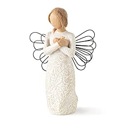 Sentiment: Memories hold each one safely in your heart written on enclosure card 5 Inch hand-painted resin figure with wire wings; ready to display on a shelf, table or mantel; to clean, dust with soft brush or cloth A gift to express sympathy, comfo...