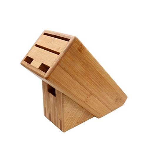 Soporte para Cuchillos Taco para Cuchillos Cuchillo de cocina del sostenedor Bloque Organizador Herramientas agujeros multifunción cuchillo de bambú rack de almacenamiento en rack creativa herramienta