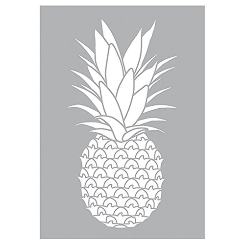 efco, Ananas Stencil, Kunststoff, weiß, 29,7 x 21 x 0,1 cm