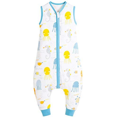 Mosebears Saco de dormir de verano para bebé, diseño de dibujos animados, lavable, 0,5 tog, para niñas y niños, sin mangas, saco de dormir