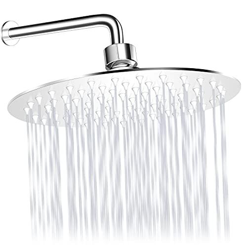 Cabezal de ducha tipo lluvia Welan ducha de lluvia de 20cm redondo cabezales de ducha empotrados cabezal de ducha de acero inoxidable cabezal de ducha de lluvia redondo de acero inoxidable