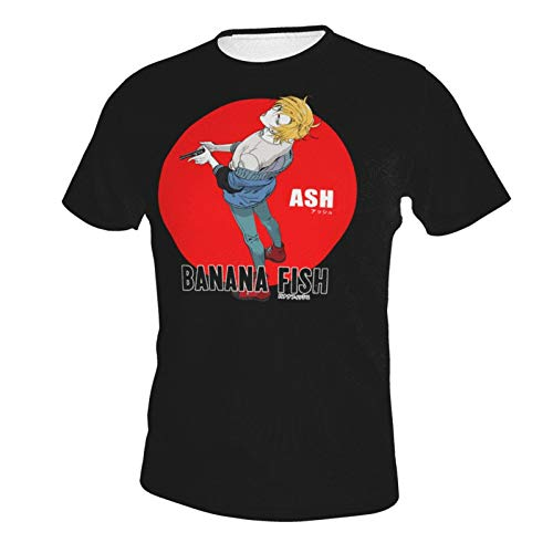IHHASD Camisetas de manga corta para hombre Ash Lynx Banana Fish