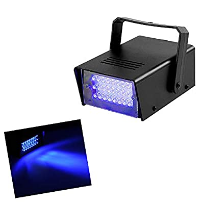 Led Blue Strobe Lights Dance Flash Strobe Lights Adjustable Speed Control Stage Light with Super Bright 24 LEDs Flash Party Lighting Best for Christmas Clubs Effect DJ Disco Bars Parties Halloween