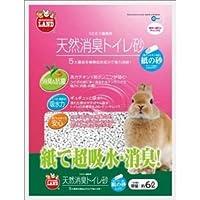 マルカン 天然消臭トイレ砂 紙の砂 6L MR-694 【ペット用品】 ds-1412151