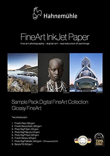 Hahnemühle 10640308 Digital FineArt Samplepack, Glanz, glossy, 210 x 297 mm
