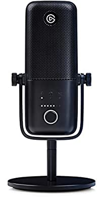 Elgato Wave:3, Premium USB Condenser Microphone and Digital Mixing Solution, Anti-Clipping Technology, Capacitive Mute, Streaming and Podcasting , 10MAB9901