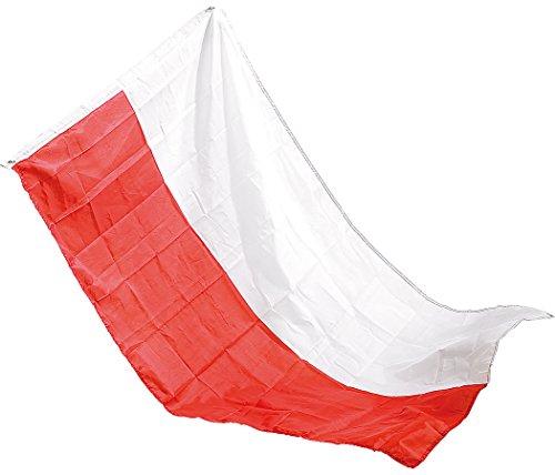 PEARL National-Fahne: Länderflagge Polen 150 x 90 cm aus reißfestem Nylon (Fussballflaggen)