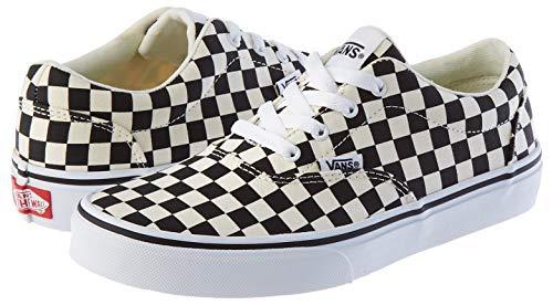 Vans Doheny, Sneaker, Scacchiera Nero Classico Bianco, 34.5 EU