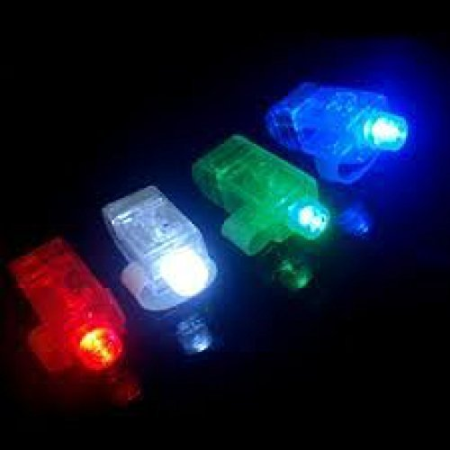 Hobby Trading Company Light up led Finger Lights Pack of 40 Pieces for Raves, Parties and Other Night Time Events Assorted Colors Flashlight Lamps
