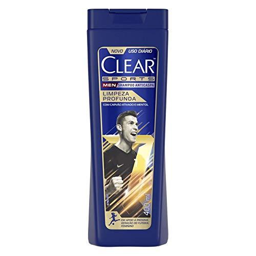 Shampoo Anticaspa Clear Sports Men Limpeza Profunda 400ml