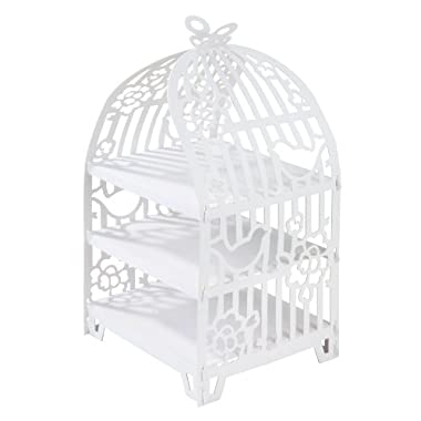 Talking Tables Something In The Air Birdcage Cake Stand for a Wedding or Tea Party, White