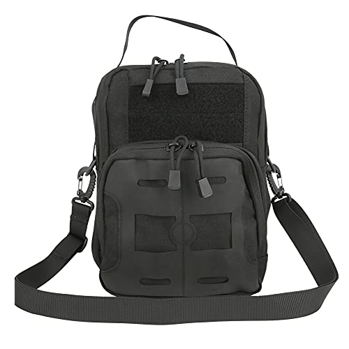 VGEBY Mens Multi-Function Sling Backpack Haversack Military Bag Tactics Single Shoulder Bag for Outdoor Camping Hiking Sports(Noir)