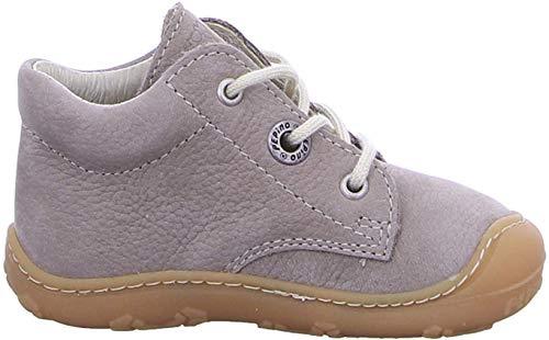RICOSTA Pepino Unisex - Kinder Stiefel Cory, Weite: Mittel (WMS), leger Boots schnürstiefel Leder Kind-er Kids junior toben,kies,24 EU / 7 UK