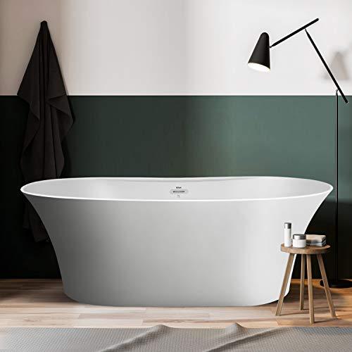 Why Should You Buy FerdY 67Freestanding Bathtub Matte Acrylic Luxury Freestanding Soaking tub, Hone...