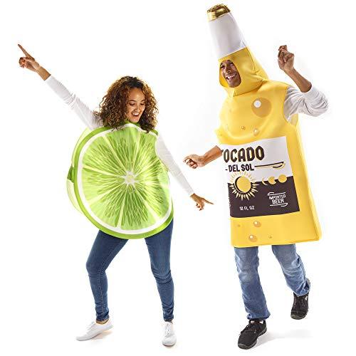 Beer & Lime Halloween Couples Costume - Funny Food Fruit Adult Bodysuit