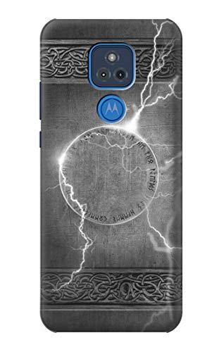 Innovedesire Thor Th&er Strike Hammer Hülle Schutzhülle Taschen für Motorola Moto G Play (2021)