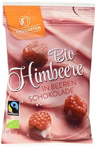 Landgarten Bio Himbeere in Beeren-Schokolade, 50 g