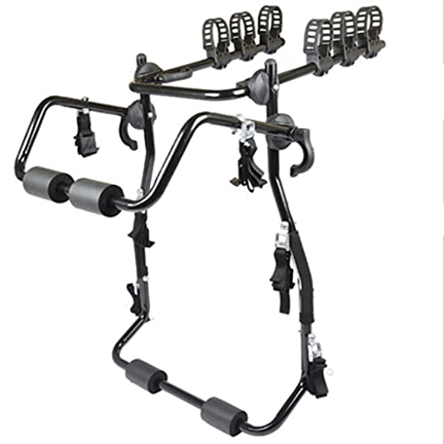 LZL Universal Bike Trunk Mount 3-Bike Car Carrier Rack for Auto-Mobile Bicycle Rack Fits Most Cars Trunk Bike Rack (Size : Three Bicycles)