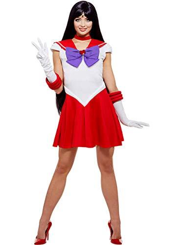 Funidelia | Costume Sailor Moon - Marte Ufficiale per Donna Taglia XXL ▶ Anime, Cosplay, Usagi Tsukino, Cartoni Animati - Rosso