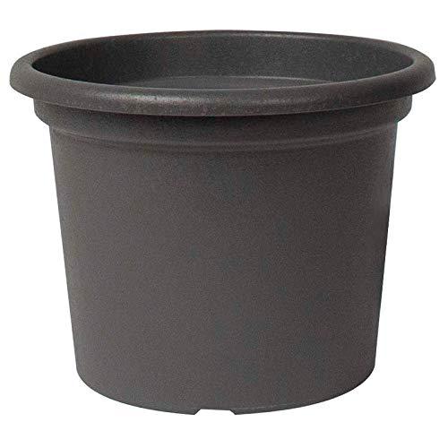 EURO3PLAST Guya - Maceta redonda de plástico reciclado (30 cm), color gris antracita