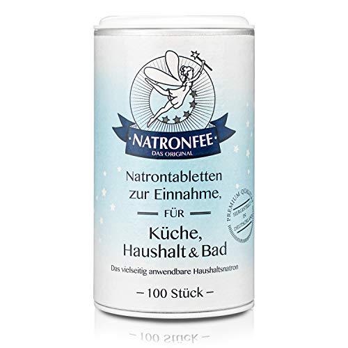 Natrontabletten der Natronfee – Kleine Natron Tabs in Lebensmittelqualität. Natriumhydrogencarbonat. Natriumbicarbonat. Baking Soda.