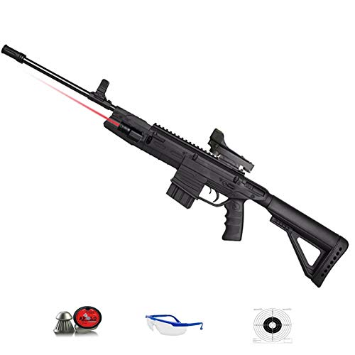 Gamo G-Force TÁCTICAL | Pack Escopeta de perdigones. Carabina de balines (plomos) Calibre 4,5mm de Muelle [Tipo Fusil Militar] Arma de Aire comprimido <3,5J