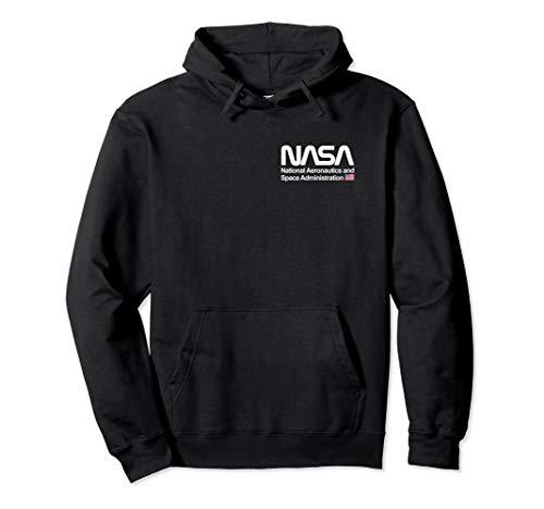NASA Shirt, Worm Logo Abzeichen US Flagge Trendiges Grafik Pullover Hoodie