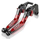 Embrague Palancas para HO┐NDA VFR 800 VFR800 Accesorios De Motocicleta CNC Palanca Freno Mano Palanca De Embrague Freno Mano Ajustable Cubrepuños Pit Bike (Color : P)