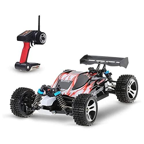 PWV Carga eléctrica 2.4G 4WD Control remoto fuera de carretera para niños para niños RC Modelo de vehículo juguete 4x4 suspensión independiente deriva RC Carrera de coches RC Regalos de coches para ni