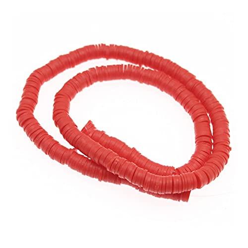 BOSAIYA Zz0 Polimer Plano Redondo Clay Beads Chip Disco Spacer Suelto Perlas Hechas a Mano para la joyería de Bricolaje Que Hace la Pulsera con 6 mm Tl520 (Color : 4)