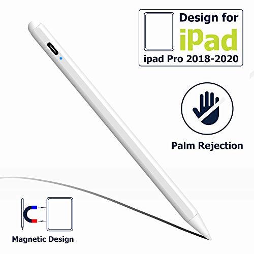 LIBERRWAY Stylus Pen with Palm Rejection 2 Gen Stylus for (2018-2020) Apple iPad Pro 11 12.9''/iPad 7th Gen/iPad 6th Gen/iPad Mini 5th Gen/iPad Air 3rd Gen