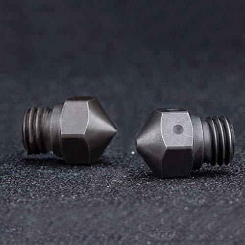 BZ 3D MK10 Ugelli M7 1.75,0.4mm acciaio temprato Nozzle per MK10 All Metal Hotend Kit Wanhao i3/Plus FlashForge Monoprice Maker Select Hotend.(2 PCS)(Acciaio temprato da 0,4 mm)