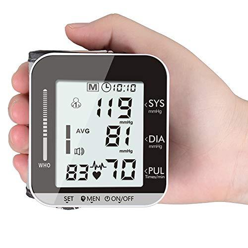 E T EASYTAO Monitor Automático de Presión Arterial de Muñeca, Baumanómetro Digital Preciso con Pantalla LCD Grande, Función Inteligente de Detectar Presión Transmisión de Voz, 2x99 Datos de Mem