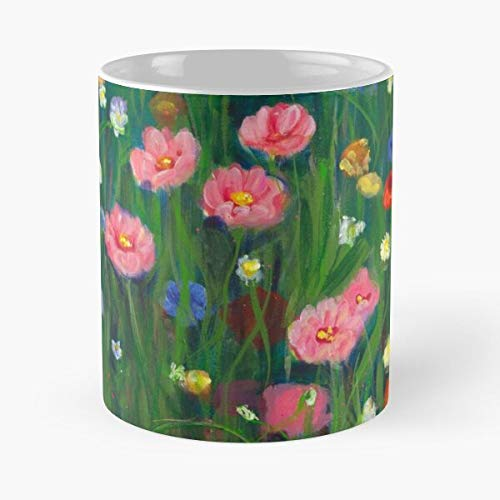 Colourful Coloursplash Colourpop Spring Floral Flowers Wildflowers Colour Die Beste 11 Unzen weiße Marmor Keramik Kaffeetasse