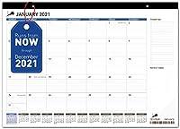 デスクカレンダー 17x11 (17x12) – 月間プランニングデスクパッド&壁掛けカレンダー 自宅 学校 オフィス用 – 優れたインクにじみ耐性 厚紙の日カレンダープランナー。