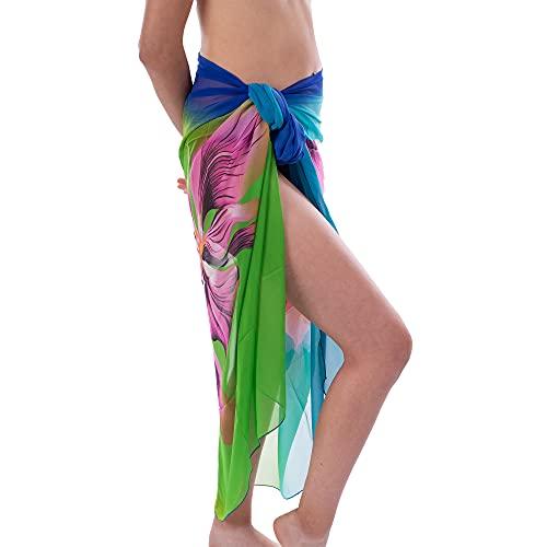 Mermaid Pareos De Playa Mujer, Pareos Mujer Ropa De Baño Falda Vestido, Pareo De Secado Rápido para La Playa Diseño 9