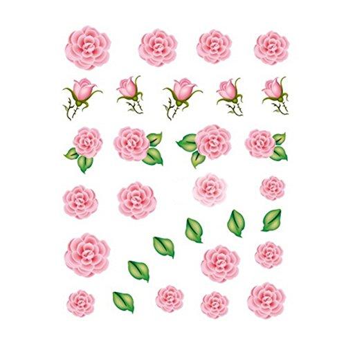 5Pcs Belle Motif Fleurs Nail Art Tips Sticker Décoration, BLE2020