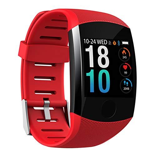 Nobrand QingDaoFuLongGuanHuangMuYeGongSi Bluetooth-Smartwatch, Herren, Q18, mit Kamera, Facebook, WhatsApp, Twitter, Synchronisation, SMS, unterstützt SIM- und TF-Karte für iOS Android, 0, rot