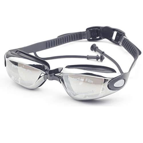 YYJDM Volwassenen Duikbril met oordopje Waterdichte Mannen arena professionele zwembrillen Anti Fog Zwembril